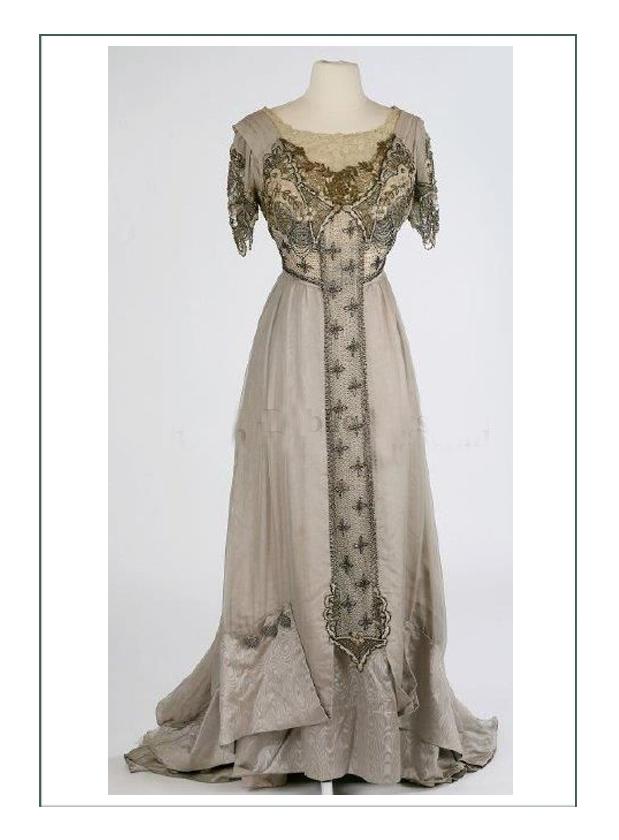 1900 France Art Nouveau Textile Design